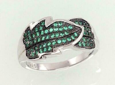 Sidabrinis žiedas, ADUN 2101031(PRh-Gr+PRh-Bk)_CZ-G