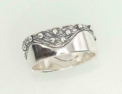 Sidabrinis žiedas, ADUN 2101182(POx-Bk)