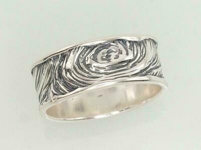 Sidabrinis žiedas, ADUN 2101181(POx-Bk)
