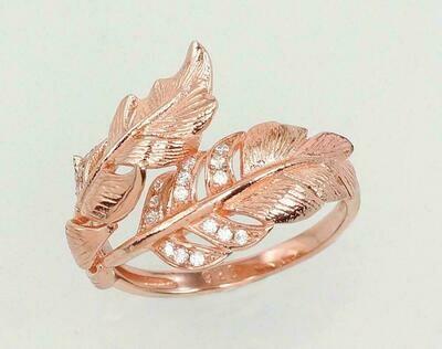 Sidabrinis žiedas, padengtas auksu ADUN 2101020(PAu-R)_CZ