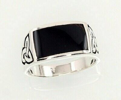 Sidabrinis žiedas, ADUN 2101364(POx-Bk)_ON