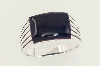 Sidabrinis žiedas, ADUN 2101582(POx-Bk)_ON