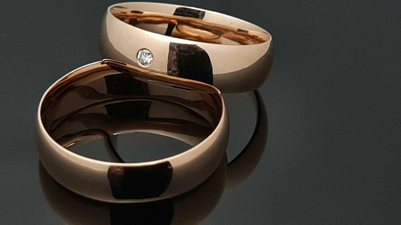 Pora Auksinių  Klasikinių Vestuvinių žiedų: TOP pasirinkimas ADADAI(vz15Au-R), Pora