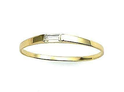Moteriškas Žiedas, 15.5 dydis, modelis ADUM#1100002(Au-Y)_CZ, Geltonas Auksas su Cirkoniu
