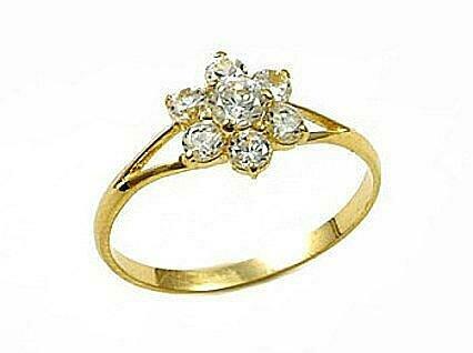 Moteriškas Žiedas, 15 dydis, modelis ADUM#1100018(Au-Y)_CZ, Geltonas Auksas su Cirkoniu