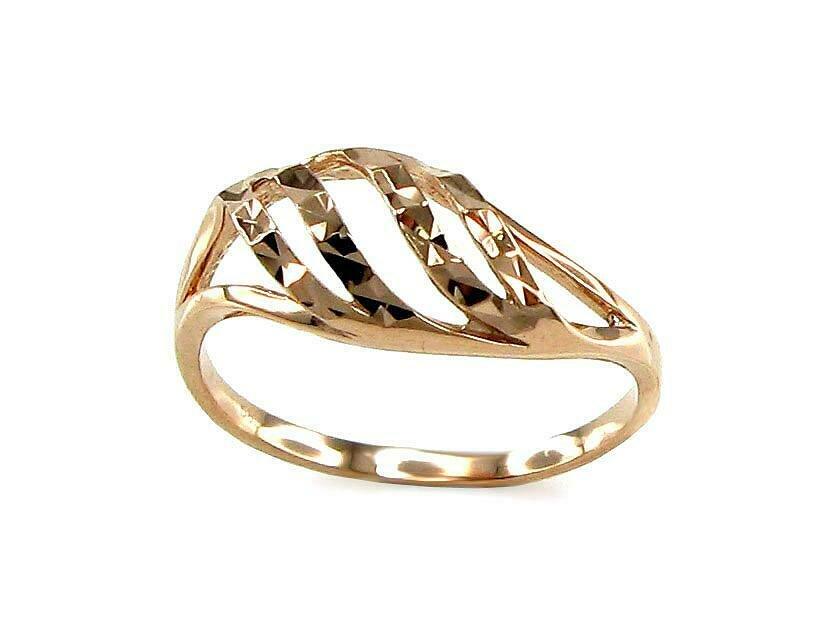 Moteriškas Žiedas, 15.5 dydis, modelis ADUM#1100067(Au-R), Raudonas Auksas su