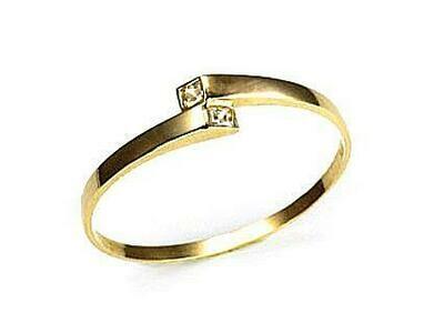 Moteriškas Žiedas, 16.25 dydis, modelis ADUM#1100003(Au-Y)_CZ, Geltonas Auksas su Cirkoniu