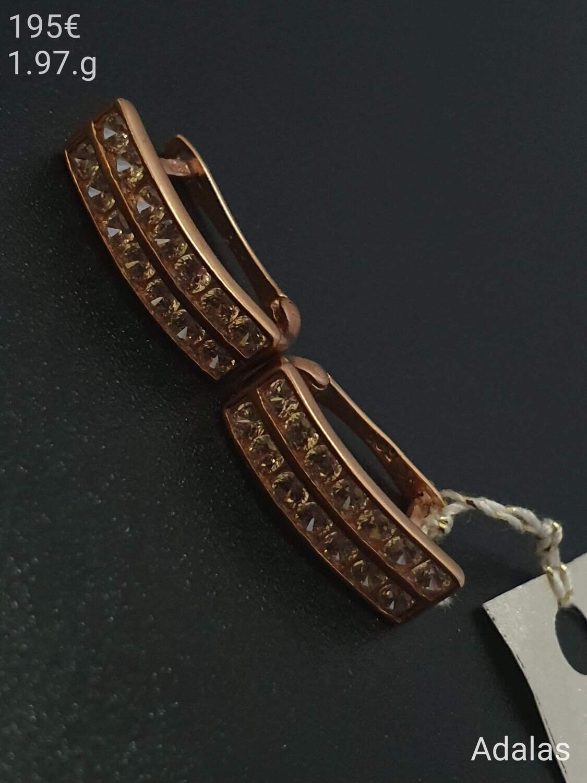 Auksiniai auskarai su cirkonio akutėmis