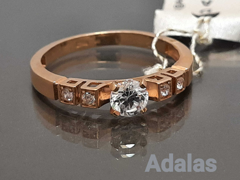 Auksinis žiedas su cirkonio akute