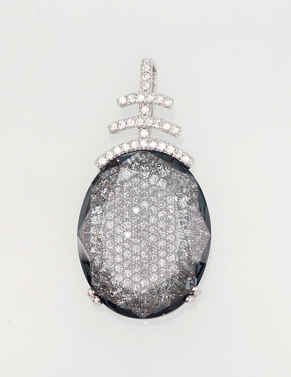 Sidabrinis moteriškas žiedas Modelis ADUM#2300916(PRh-Gr)_CZ+CZ-GR