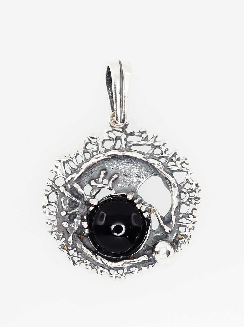 Sidabrinis moteriškas žiedas Modelis ADUM#2301306(POx-Bk)_ON-2