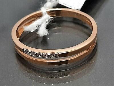 Auksinis žiedas su cirkonio akutėmis, Dydis 16,5