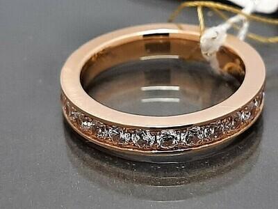 Auksinis žiedas su cirkonio akutėmis
