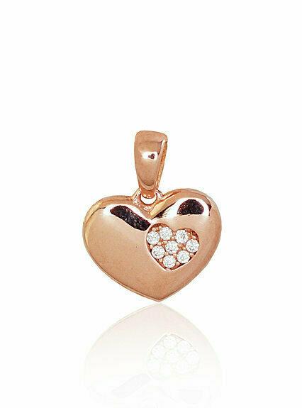 Auksinis pakabukas, širdelė MODELIS ADUM1300613