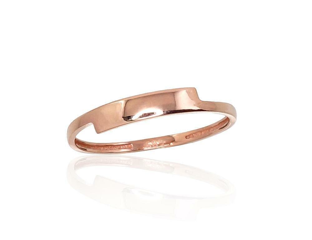 Moteriškas Žiedas, 15.5 dydis, modelis ADUM#1100871(Au-R), Raudonas Auksas su