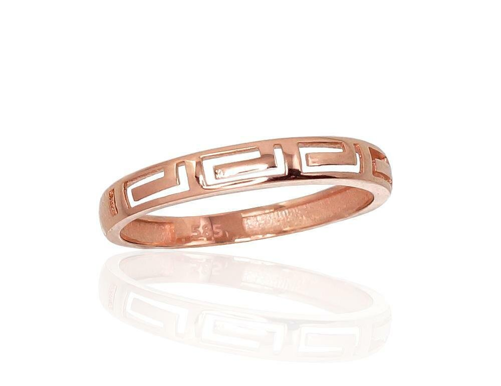 Moteriškas Žiedas, 16.5 dydis, modelis ADUM#1100869(Au-R), Raudonas Auksas su