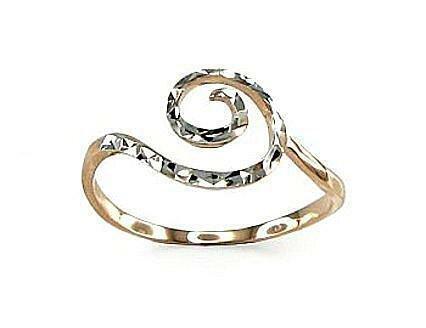Moteriškas Žiedas, modelis ADUM#1100075(Au-R+PRh-W), Raudonas ir baltas auksas