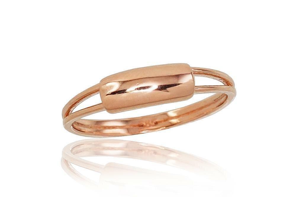 Moteriškas Žiedas, 17.5 dydis, modelis ADUM#1100799(Au-R), Raudonas Auksas su