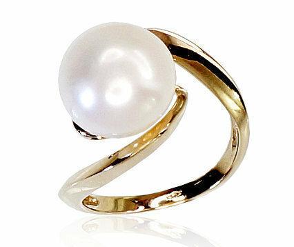 Moteriškas Žiedas, 18 dydis, modelis ADUM#1100117(Au-Y)_PE, Geltonas Auksas su kultivuoti perlai