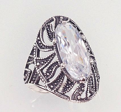 Sidabrinis žiedas, ADUN 2100935(POx-Bk)_CZ