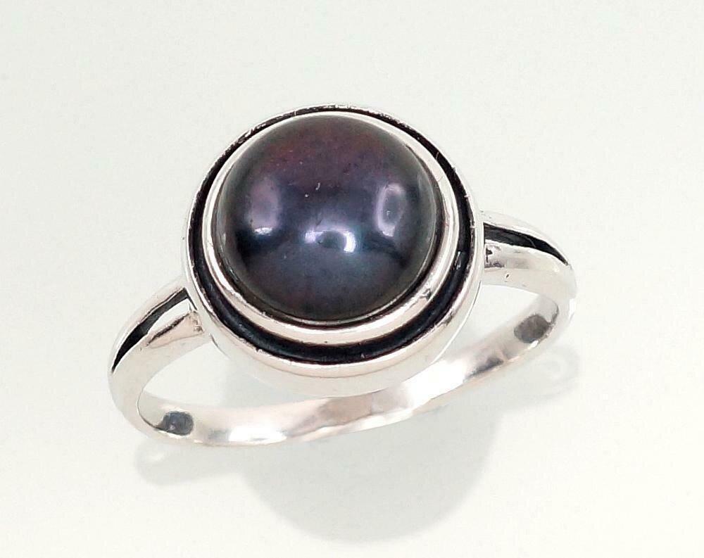 Sidabrinis žiedas, ADUN 2100949(POx-Bk)_PE-BK