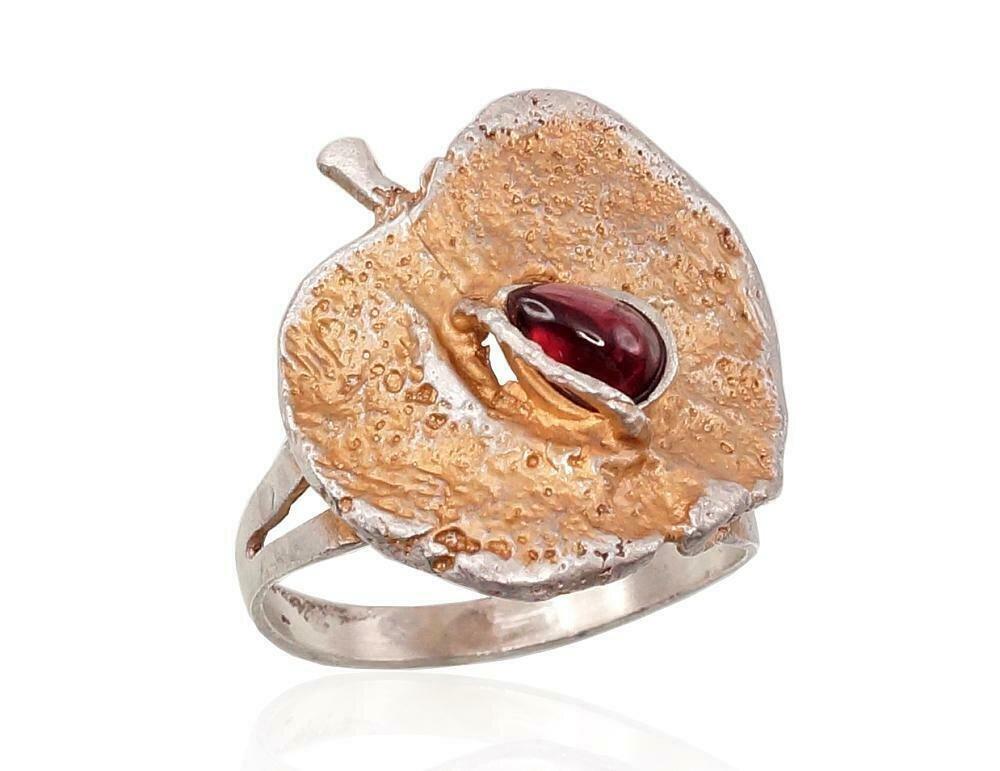 Sidabrinis žiedas, ADUN 2101213(Matt+POx-MattY)_GR-2