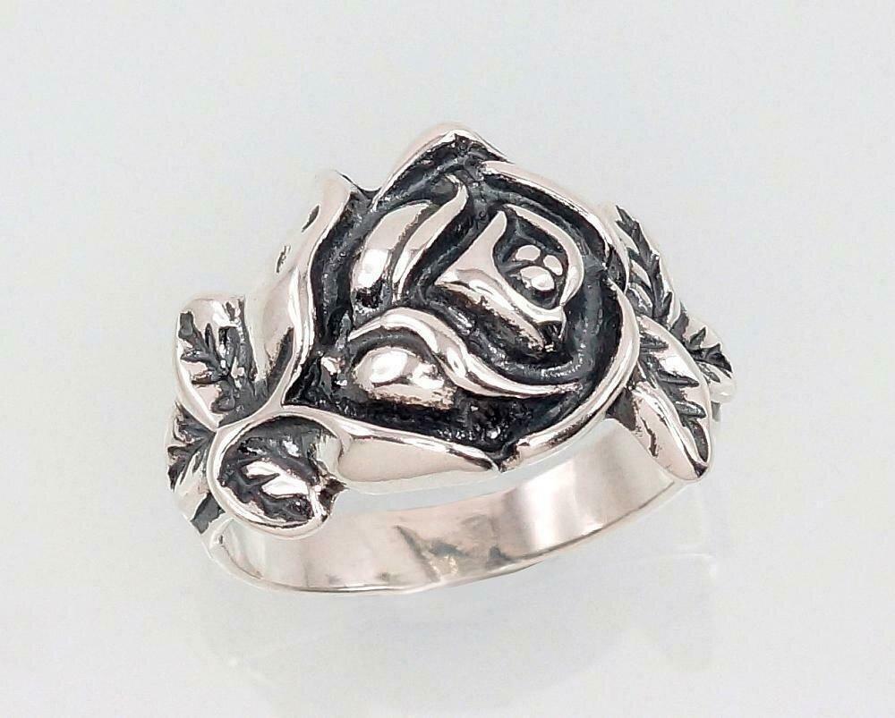 Sidabrinis žiedas, ADUN 2101398(POx-Bk)