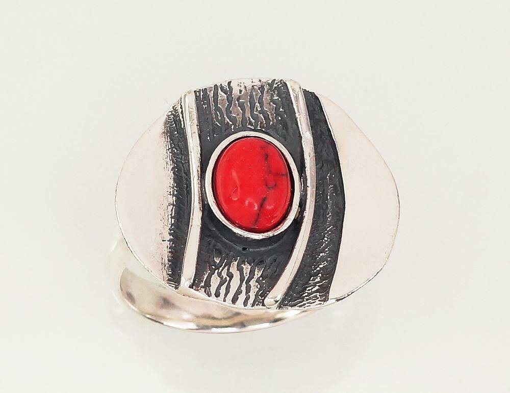 Sidabrinis žiedas, ADUN 2101428(POx-Bk)_COX