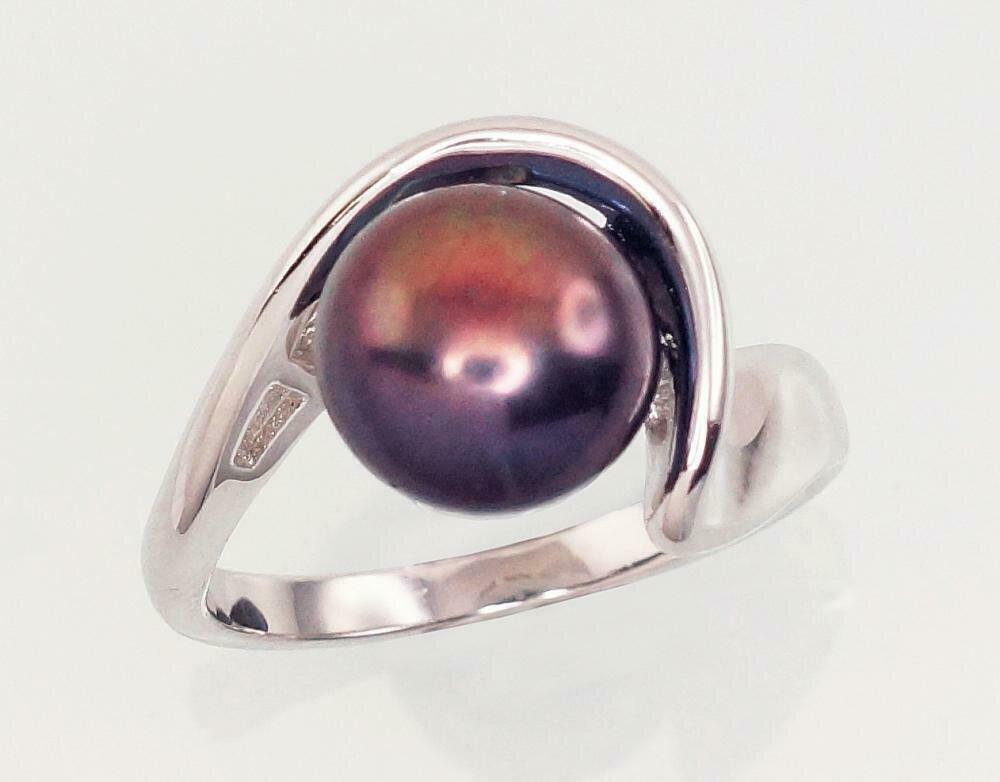 Sidabrinis žiedas, ADUN 2101456(PRh-Gr)_PE-BK