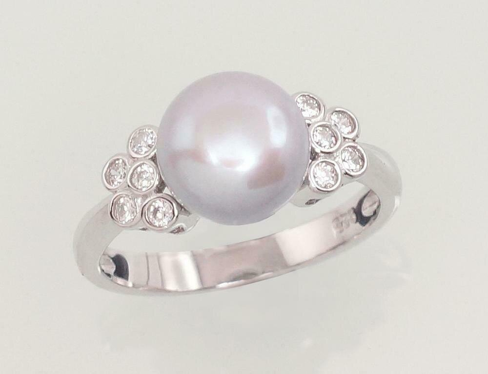 Sidabrinis žiedas, ADUN 2101464(PRh-Gr)_CZ+PE-GR