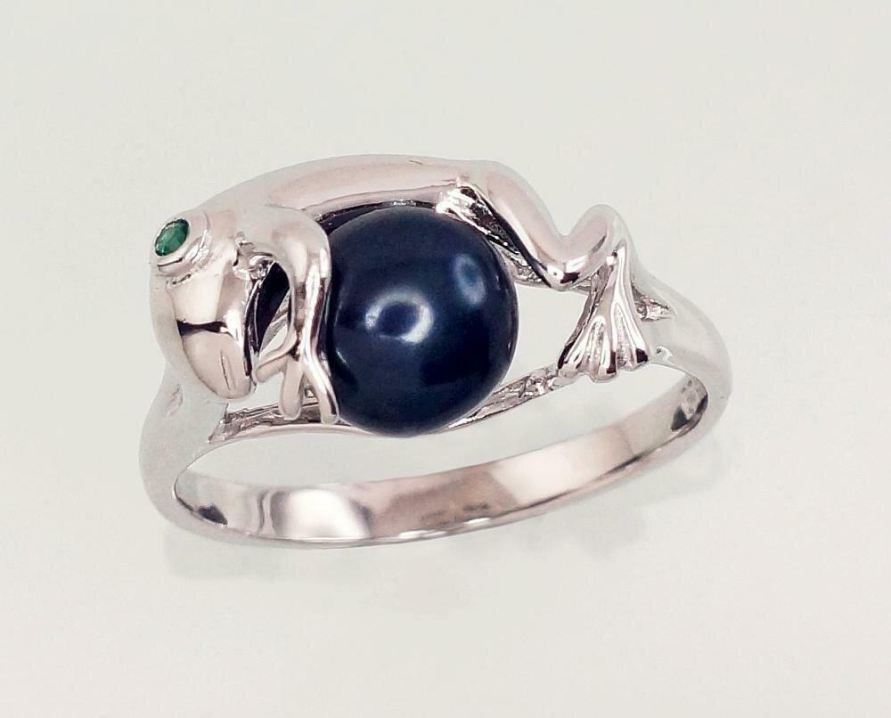 Sidabrinis žiedas, ADUN 2101466(PRh-Gr)_CZ-G+PE-BK