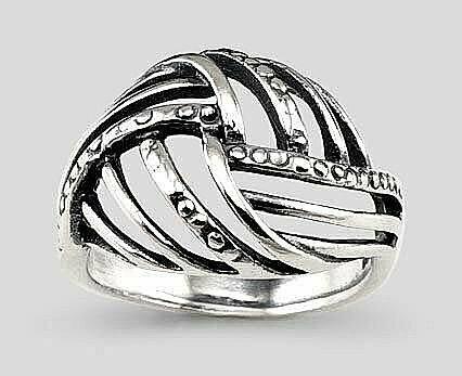Sidabrinis žiedas, ADUN 2101495(POx-Bk)