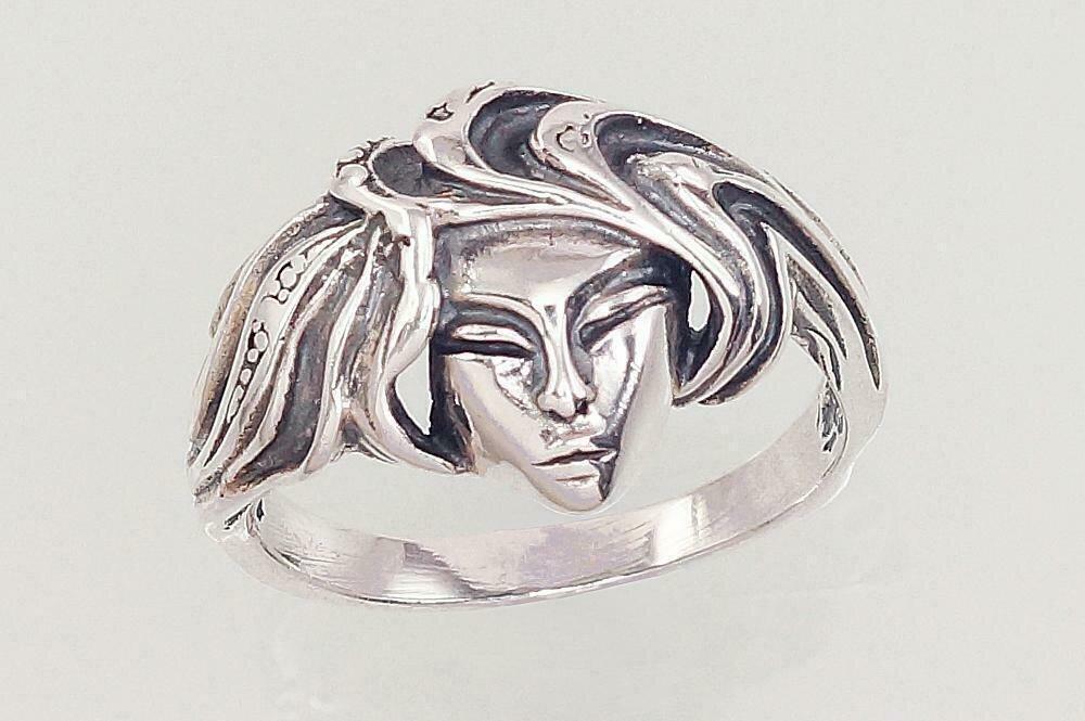 Sidabrinis žiedas, ADUN 2101562(POx-Bk)