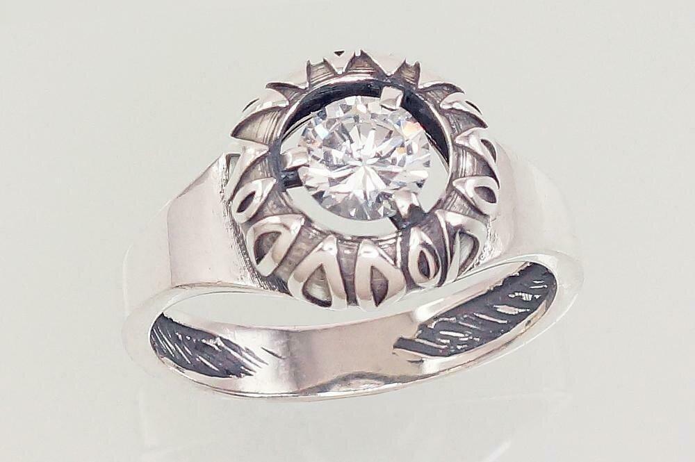 Sidabrinis žiedas, ADUN 2101565(POx-Bk)_CZ