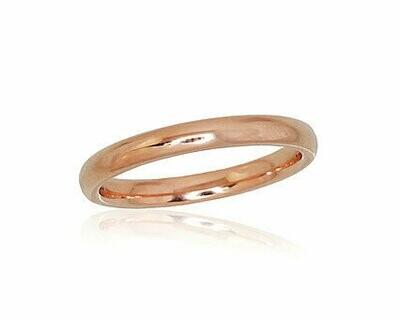 Auksinis Klasikinis  Vestuvinis žiedas: 2,5 mm pločio. Įvairūs dydžiai. Modelis ADUM1100724(Au-R)