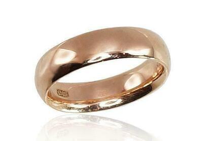Auksinis Klasikinis Vestuvinis žiedas: 5 mm pločio. Įvairūs dydžiai. Modelis ADUM1100271(Au-R)