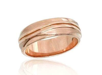 Auksinis Vestuvinis žiedas: 6 mm pločio su raštu. Įvairūs dydžiai. Modelis ADUM1100545(Au-R)
