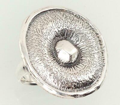 Sidabrinis žiedas, ADUN 2101186(POx-Bk)
