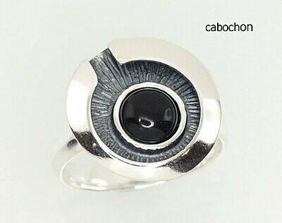 Sidabrinis žiedas, ADUN 2100932(POx-Bk)_ON-2