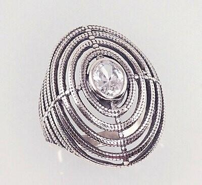 Sidabrinis žiedas, ADUN 2100934(POx-Bk)_CZ