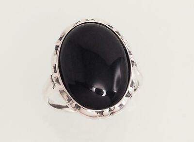 Sidabrinis žiedas, ADUN 2100940(POx-Bk)_ON-2