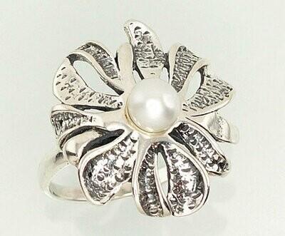 Sidabrinis žiedas, ADUN 2101202(POx-Bk)_PE