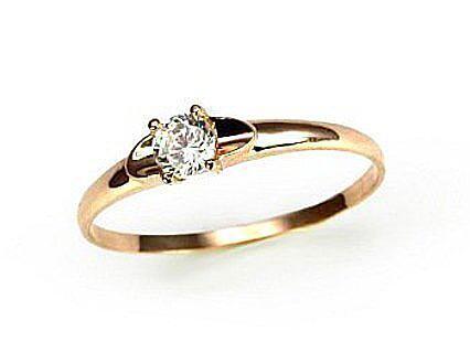 Auksinis sužadėtuvių žiedas modelis ADUM1100011(Au-R)_CZ