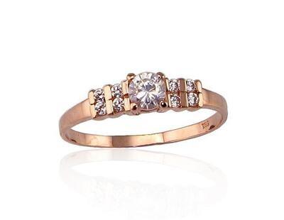 Auksinis sužadėtuvių žiedas modelis ADUM1100077(Au-R)_CZ