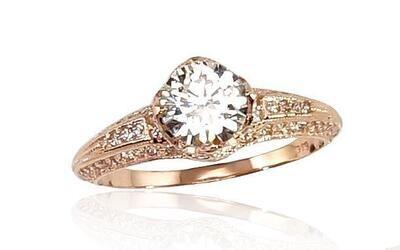 Auksinis sužadėtuvių žiedas modelis ADUM1100245(Au-R)_CZ