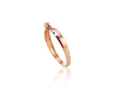 Auksinis sužadėtuvių žiedas modelis ADUM1100488(Au-R+PRh-W)_CZ