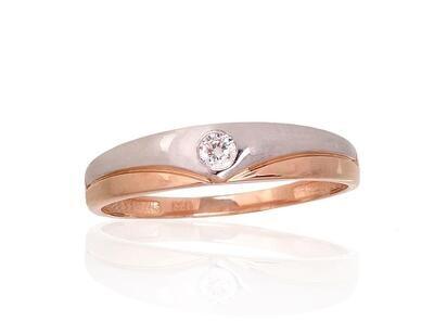 Auksinis sužadėtuvių žiedas modelis ADUM1100909(Au-R+PRh-W)_CZ