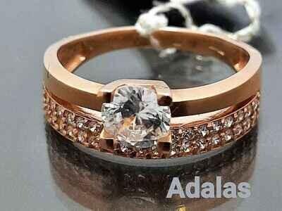Auksinis žiedas su cirkonio akute, Dydis 18