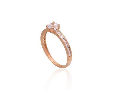 Auksinis sužadėtuvių žiedas modelis ADUM1100910(Au-R)_CZ