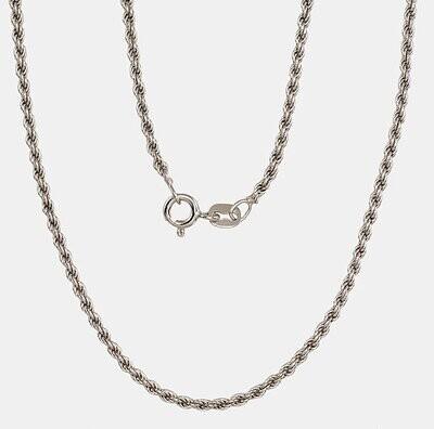 Sidabrinė Grandinėlė,  Rope, Sukta, 2,0 mm pločio, ADUM 2400056 Rodžiuota